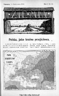 Ziemia : tygodnik krajoznawczy ilustrowany 1910, nr 42