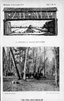 Ziemia : tygodnik krajoznawczy ilustrowany 1910, nr 48