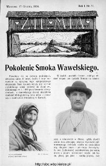 Ziemia : tygodnik krajoznawczy ilustrowany 1910, nr 51