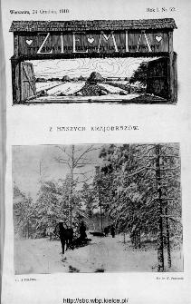 Ziemia : tygodnik krajoznawczy ilustrowany 1910, nr 52