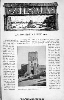 Ziemia : tygodnik krajoznawczy ilustrowany 1910: zapowiedź