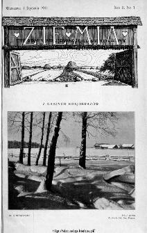 Ziemia : tygodnik krajoznawczy ilustrowany 1911, nr 1