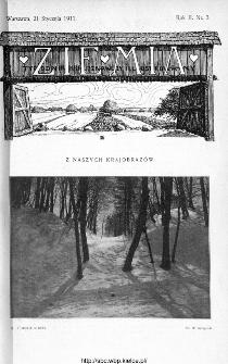 Ziemia : tygodnik krajoznawczy ilustrowany 1911, nr 3