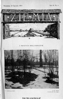 Ziemia : tygodnik krajoznawczy ilustrowany 1911, nr 4