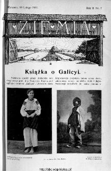 Ziemia : tygodnik krajoznawczy ilustrowany 1911, nr 7