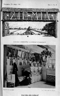 Ziemia : tygodnik krajoznawczy ilustrowany 1911, nr 8