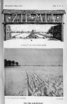 Ziemia : tygodnik krajoznawczy ilustrowany 1911, nr 9