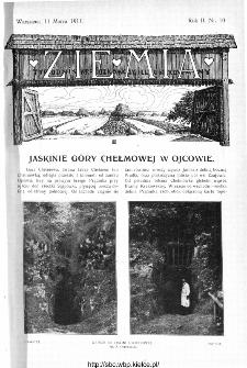 Ziemia : tygodnik krajoznawczy ilustrowany 1911, nr 10