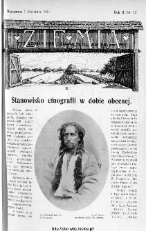Ziemia : tygodnik krajoznawczy ilustrowany 1911, nr 13