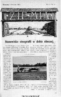 Ziemia : tygodnik krajoznawczy ilustrowany 1911, nr 14