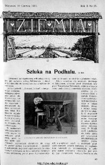 Ziemia : tygodnik krajoznawczy ilustrowany 1911, nr 23