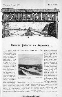 Ziemia : tygodnik krajoznawczy ilustrowany 1911, nr 28