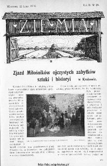 Ziemia : tygodnik krajoznawczy ilustrowany 1911, nr 29