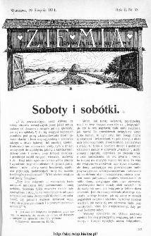 Ziemia : tygodnik krajoznawczy ilustrowany 1911, nr 33