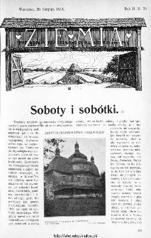 Ziemia : tygodnik krajoznawczy ilustrowany 1911, nr 34