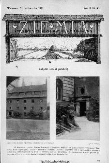 Ziemia : tygodnik krajoznawczy ilustrowany 1911, nr 43