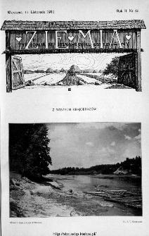 Ziemia : tygodnik krajoznawczy ilustrowany 1911, nr 45