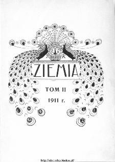 Ziemia : tygodnik krajoznawczy ilustrowany 1911: spis treści