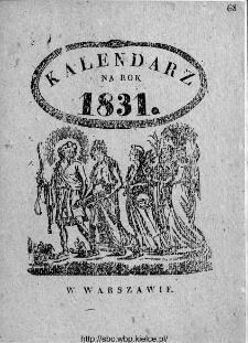 Kalendarze XIX wieku w zbiorach Czytelni czasopism WBP w Kielcach: katalog wystawy