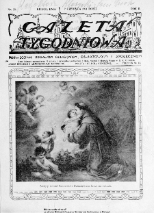 Gazeta Tygodniowa. Poświęcona sprawom religijnym, oświatowym i społecznym,1931, R.2, nr 23