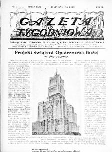 Gazeta Tygodniowa. Poświęcona sprawom religijnym, oświatowym i społecznym,1932, R.3, nr 4