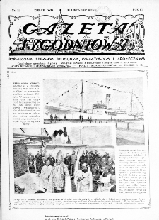 Gazeta Tygodniowa. Poświęcona sprawom religijnym, oświatowym i społecznym,1932, R.3, nr 31