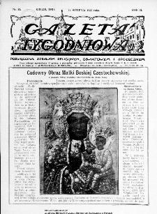 Gazeta Tygodniowa. Poświęcona sprawom religijnym, oświatowym i społecznym,1932, R.3, nr 33