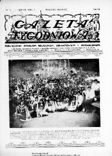 Gazeta Tygodniowa. Poświęcona sprawom religijnym, oświatowym i społecznym,1932, R.3, nr 37