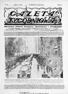 Gazeta Tygodniowa. Poświęcona sprawom religijnym, oświatowym i społecznym,1932, R.3, nr 38
