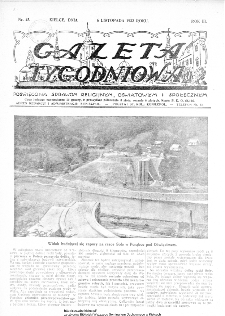 Gazeta Tygodniowa. Poświęcona sprawom religijnym, oświatowym i społecznym,1932, R.3, nr 45