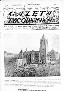 Gazeta Tygodniowa. Poświęcona sprawom religijnym, oświatowym i społecznym,1932, R.3, nr 46