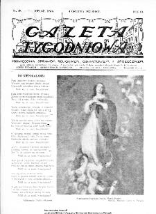 Gazeta Tygodniowa. Poświęcona sprawom religijnym, oświatowym i społecznym,1932, R.3, nr 49