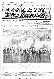 Gazeta Tygodniowa. Poświęcona sprawom religijnym, oświatowym i społecznym,1934, R.4, nr 4