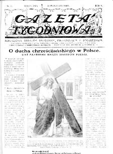 Gazeta Tygodniowa. Poświęcona sprawom religijnym, oświatowym i społecznym,1934, R.4, nr 11