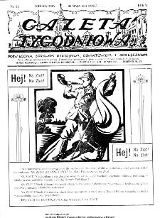 Gazeta Tygodniowa. Poświęcona sprawom religijnym, oświatowym i społecznym,1934, R.4, nr 21