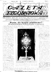 Gazeta Tygodniowa. Poświęcona sprawom religijnym, oświatowym i społecznym,1934, R.4, nr 34