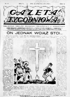 Gazeta Tygodniowa. Poświęcona sprawom religijnym, oświatowym i społecznym,1935, R.5, nr 15