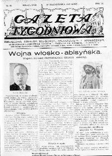 Gazeta Tygodniowa. Poświęcona sprawom religijnym, oświatowym i społecznym,1935, R.5, nr 41