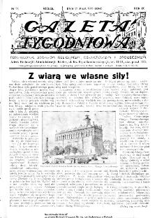 Gazeta Tygodniowa. Poświęcona sprawom religijnym, oświatowym i społecznym,1938, R.9, nr 21