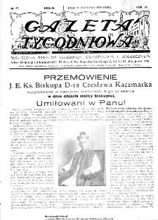 Gazeta Tygodniowa. Poświęcona sprawom religijnym, oświatowym i społecznym,1938, R.9, nr 37