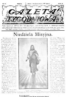 Gazeta Tygodniowa. Poświęcona sprawom religijnym, oświatowym i społecznym,1938, R.9, nr 43