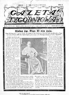 Gazeta Tygodniowa. Poświęcona sprawom religijnym, oświatowym i społecznym 1939, nr 8