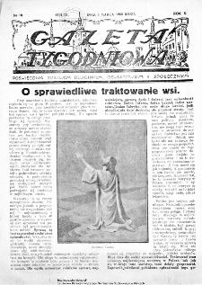 Gazeta Tygodniowa. Poświęcona sprawom religijnym, oświatowym i społecznym 1939, nr 10