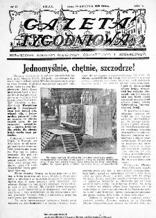 Gazeta Tygodniowa. Poświęcona sprawom religijnym, oświatowym i społecznym 1939, nr 17