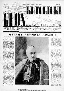 Głos Katolicki dawniej Gazeta Tygodniowa poświęcony sprawom religijnym, oświatowym i społecznym 1939, nr 20
