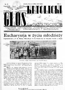 Głos Katolicki dawniej Gazeta Tygodniowa poświęcony sprawom religijnym, oświatowym i społecznym 1939, nr 29
