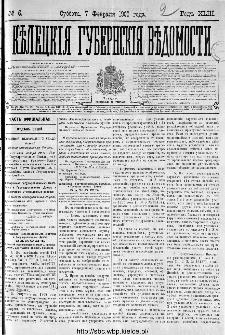 Kieleckije Gubernskije Wiedomosti: tygodnik 1909, nr 6
