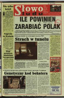 Słowo Ludu 1997, XLVIII, nr 262 (wydanie A)
