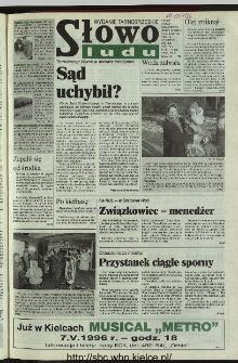 Słowo Ludu 1996, XLV, nr 87 (tarnobrzeskie)