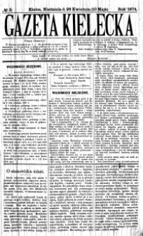 Gazeta Kielecka, 1872, R.3, nr 34